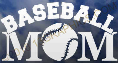 Baseball mom window sticker decal Vinyl sticker decal