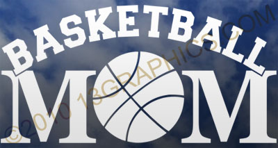 Basketball mom window sticker decal Vinyl sticker decal