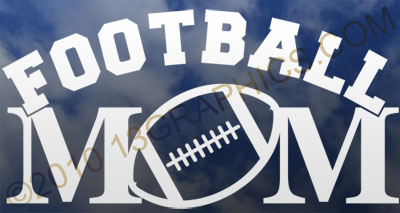 Football mom window sticker decal Vinyl sticker decal