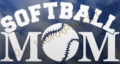 Softball mom window sticker decal Vinyl sticker decal