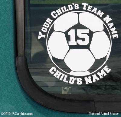 Soccer ball window sticker decal vinyl sticker decal